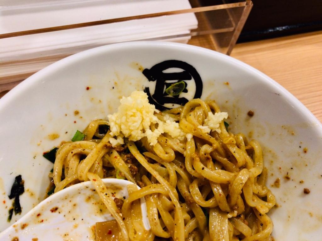 台湾まぜそば 麺や マルショウ ニンニク 新大阪駅 新なにわ大食堂