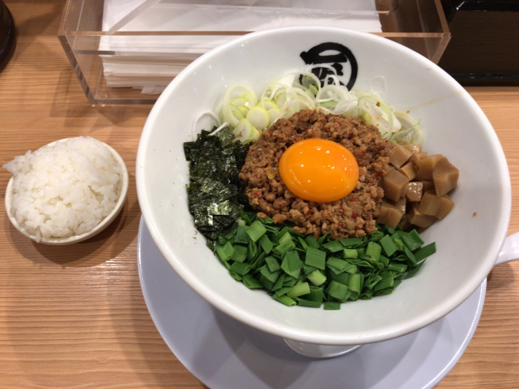 台湾まぜそば 麺や マルショウ 一番人気 メニュー 新大阪駅 新なにわ大食堂
