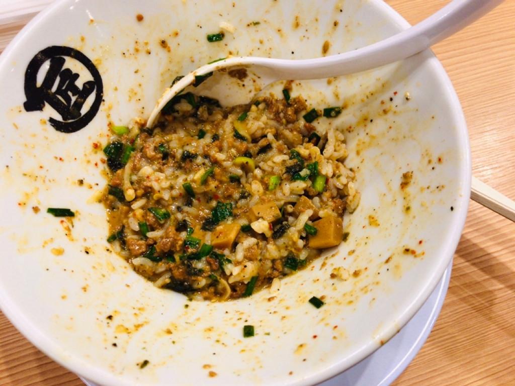 台湾まぜそば 麺や マルショウ 追い飯 新大阪駅 新なにわ大食堂