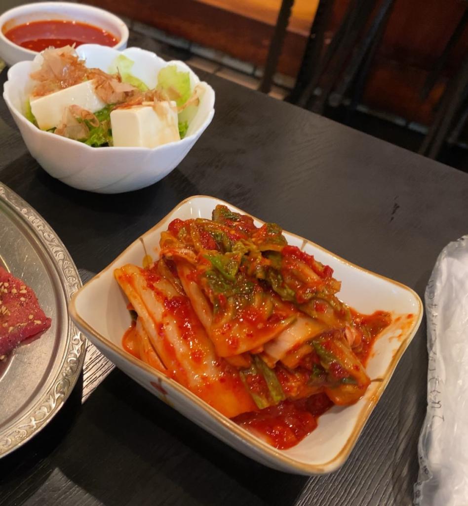 鶴橋 焼肉屋 カルビハウス白菜キムチ