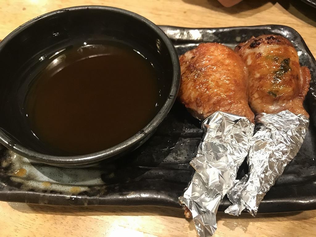 手羽餃子 カロリー 焼き鳥屋